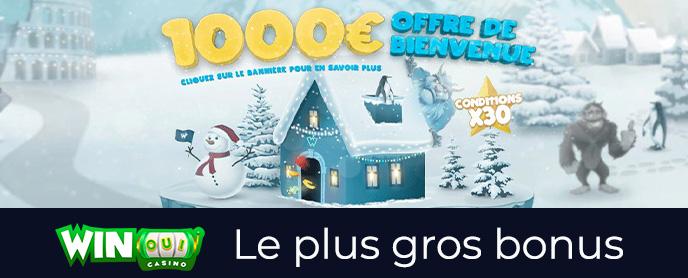 Bonus 1000€ chez le casino WinOui