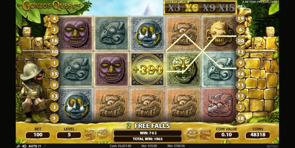Jouer gratuitement à la machine à sous Gonzo's Quest