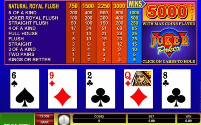 Vidéo poker en ligne