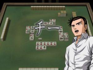 Tetsuya jouant de l'argent au Mahjong