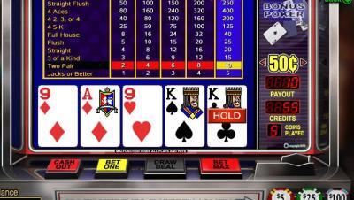 video poker en ligne
