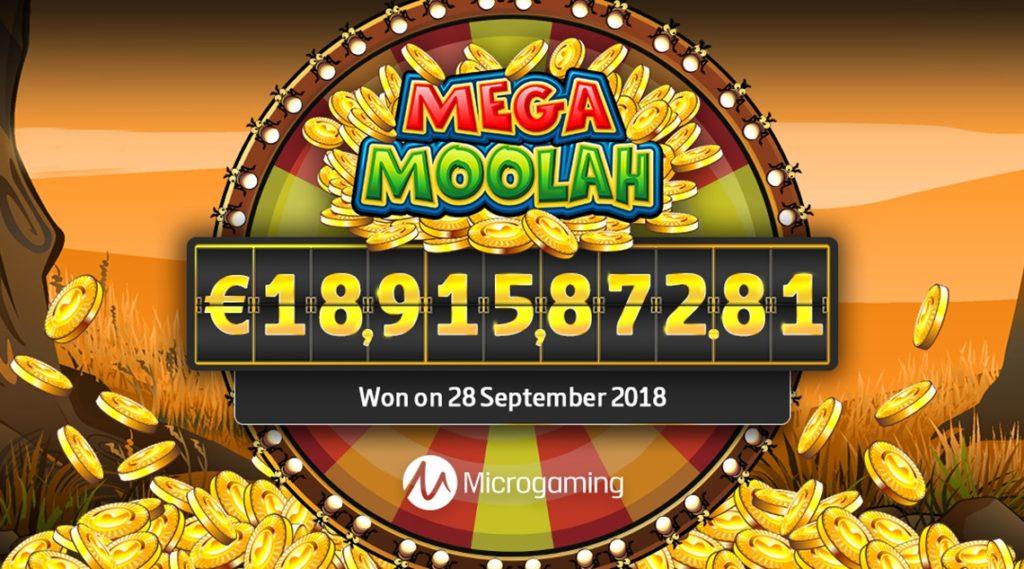 Jackpot progressif de la machine à sous Mega Moolah