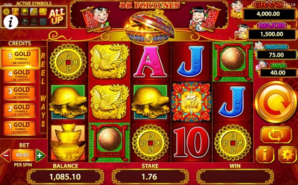 Jouer gratuitement à la machine à sous 88 Fortune