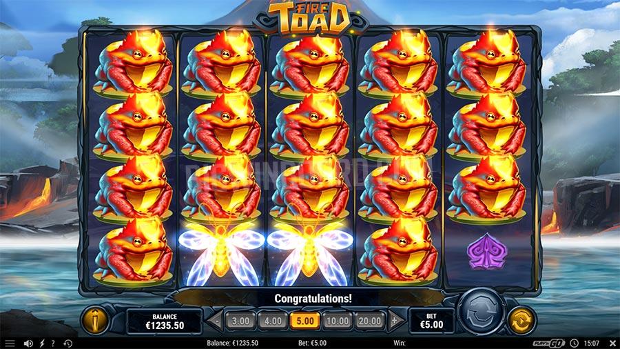 Jouer gratuitement à la machine à sous Fire Toad