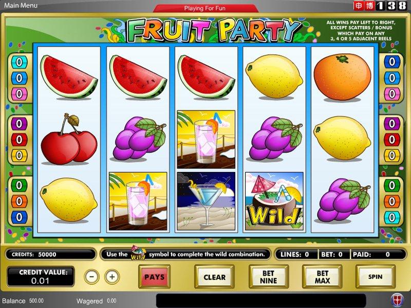 Jouer gratuitement a la machine a sous Fruit Party