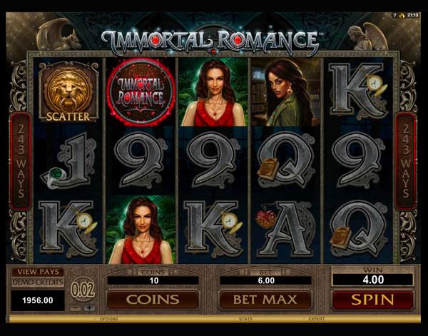 Jouer gratuitement à la machine à sous Immortal Romance