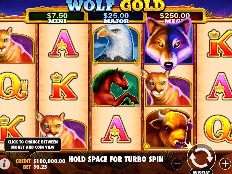 Jouer gratuitement à la machine à sous Wolf Gold