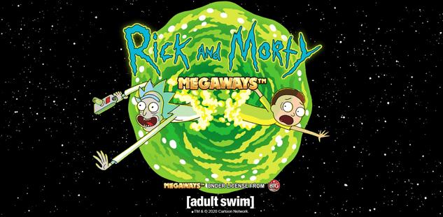 Logo de la machine à sous Rick and Morty