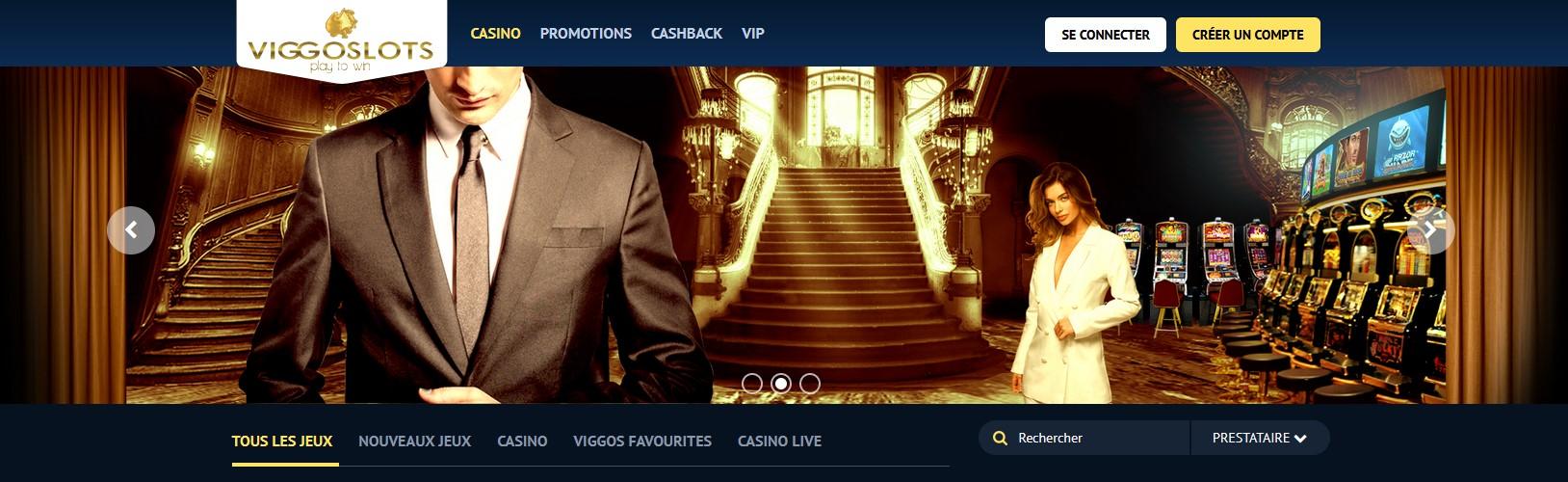 bannière du casino Viggoslots